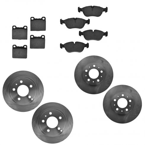 94-97 Volvo 850; 98-04 C70; 98-00 S70, V70 Front & Rear Ceramic Brake Pad & Rotor Kit