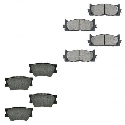 07-13 Camry, ES350; 08-13 Avalon Front & Rear Semi Metallic Brake Pad Set