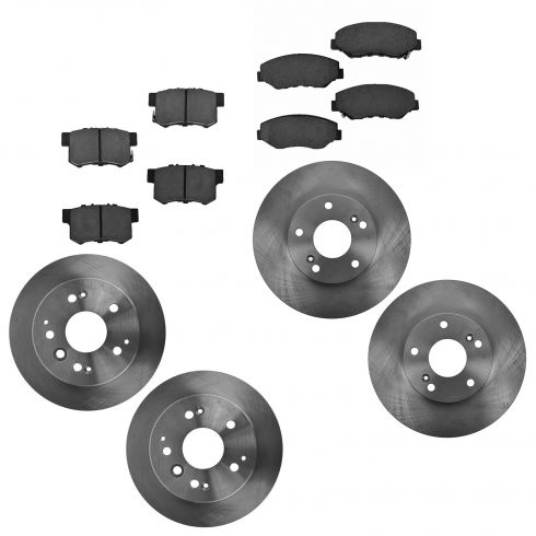 2003-11 Honda Element Front & Rear Ceramic Brake Pad & Rotor Kit