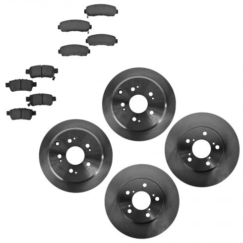05-10 Honda Odyssey Front & Rear Disc Brake Rotors & Ceramic Pads Set