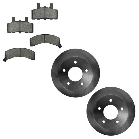 90-02 Chevy Astrovan, GMC Safari Van w/4WD Front Disc Brake Rotor & Pad Kit