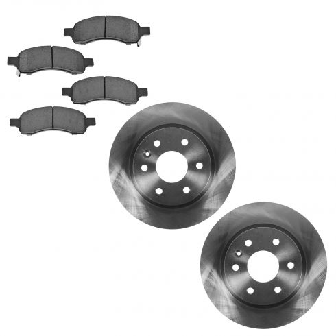 08-14 Buick Enclave;  09-14 Traverse; 07-14 Acadia; 07-10 Outlook Fr Cer Pads & Rotors