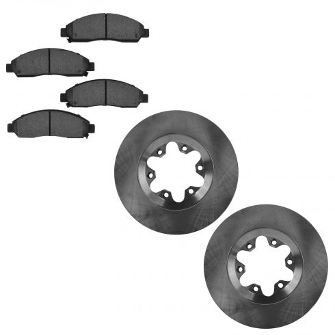04-08 Canyon, Colorado; 06 Isuzu I-280, I-350; 07-08 I-290, I-370 Front Rotor & Ceramic Pad Set