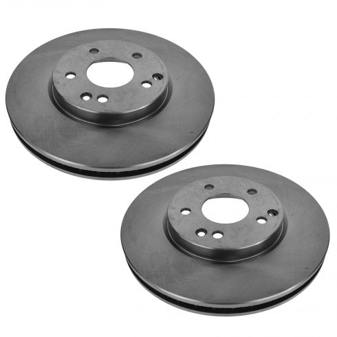 04-08 Crossfire; 03-07 MB C; 99-09 CLK; 96-02 E; 01-11 SLK Series Front Disc Brake Rotor Pair