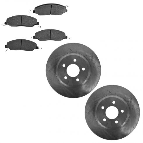 05-10 Ford Mustang w/4.6L; 11 Mustang w/3.7L Front Disc Brake Rotor & Metallic Pad Kit