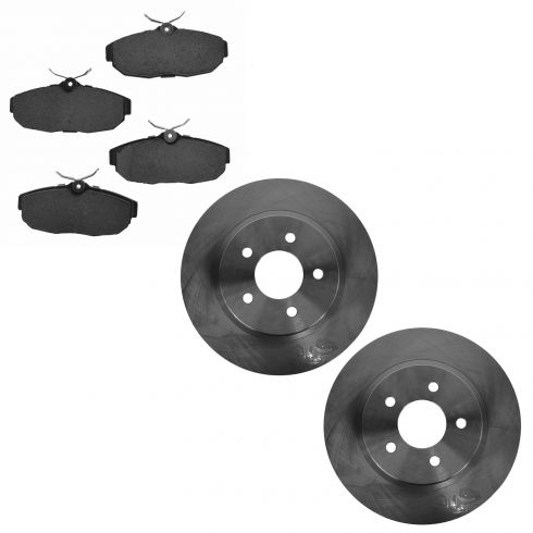 05-12 Ford Mustang; 13-14 Mustang (w/11.8 Inch Dia) Rear Disc Brake Rotor & Ceramic Pad