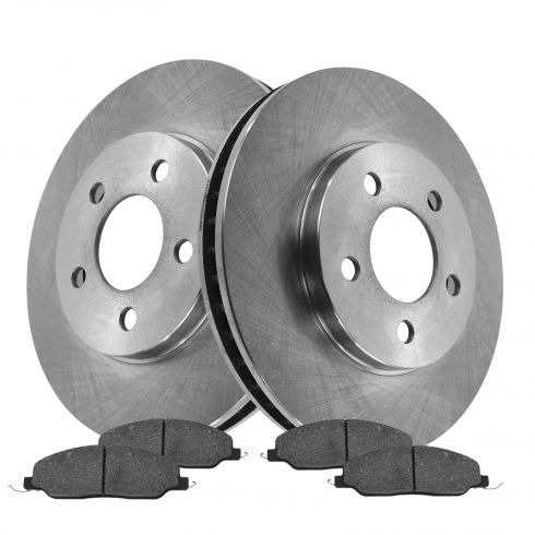 05-10 Ford Mustang w/4.0L Front Disc Brake Rotor & Metallic Pad Set