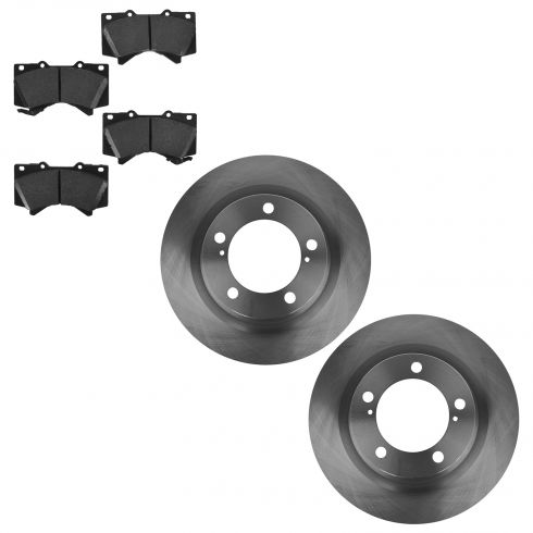 07-14 Tundra; 08-14 Sequoia Front Posi Ceramic Brake Pad & Rotor Set