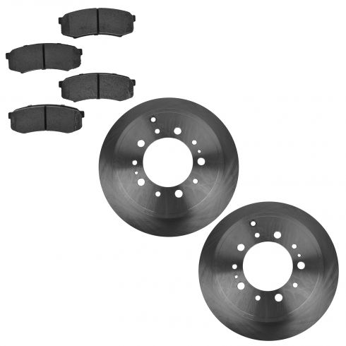 07-14 Tundra; 08-14 Sequoia Rear Semi-Metallic Brake Pad & Rotor Set