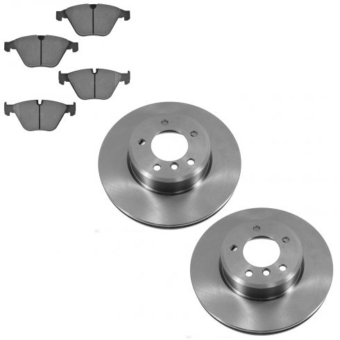 04-10 BMW 5-Series Front Metallic Pad & Rotor Set