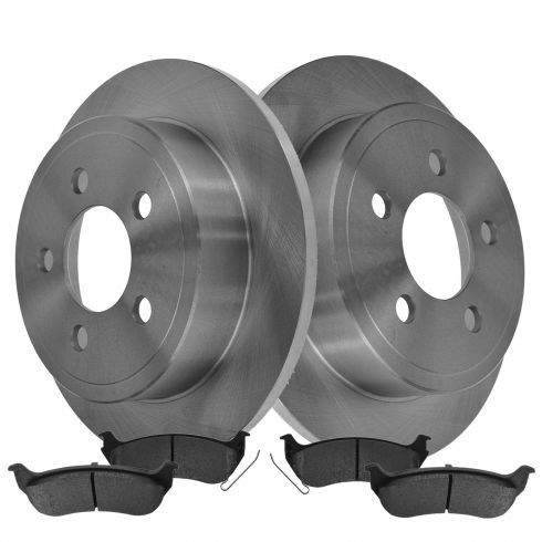 03-07 Jeep Liberty, 03-06 Wrangler Rear Metallic Pad & Rotor Set
