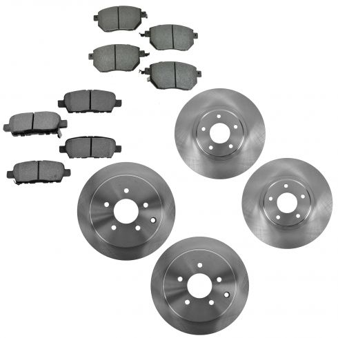 05-12 Nissan Murano Front & Rear Rotor & Metallic Pad Kit