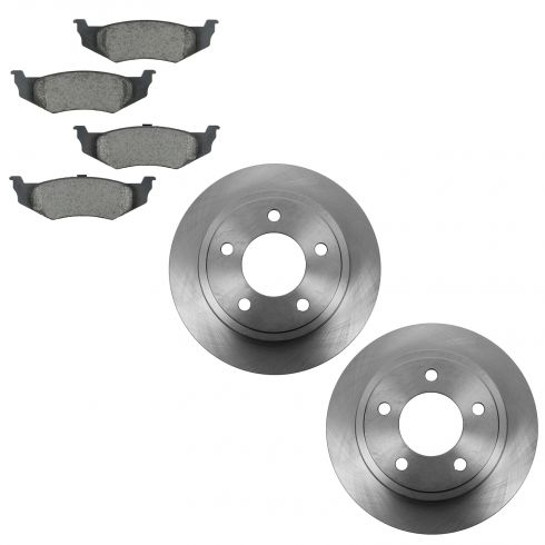 93-97 Chrysler FWD; 98-04 Chrysler FWD (exc 15 Inch Whls) Rear Ceramic Pad & Brake Rotor Kit