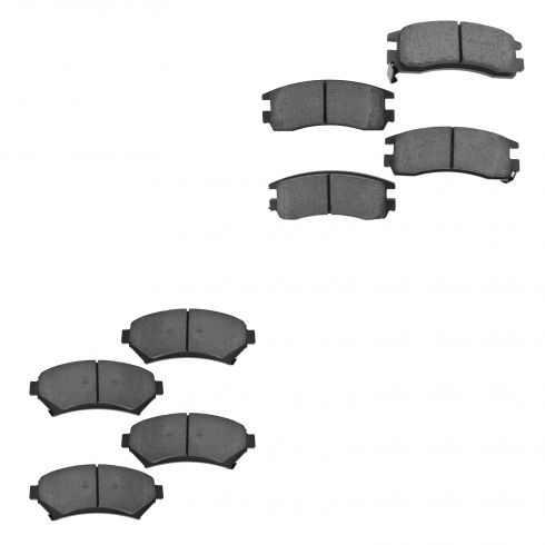 97-05 GM FWD Front & Rear Ceramic Brake Pad Kit