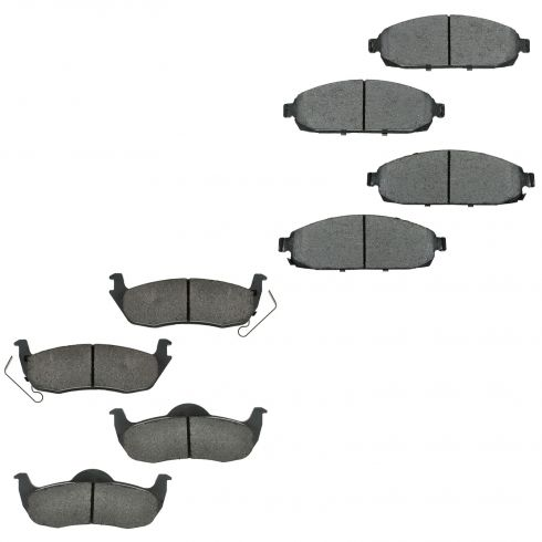 06-10 Commander; 05-10 Gr-Cherokee Front & Rear Ceramic Pad Set