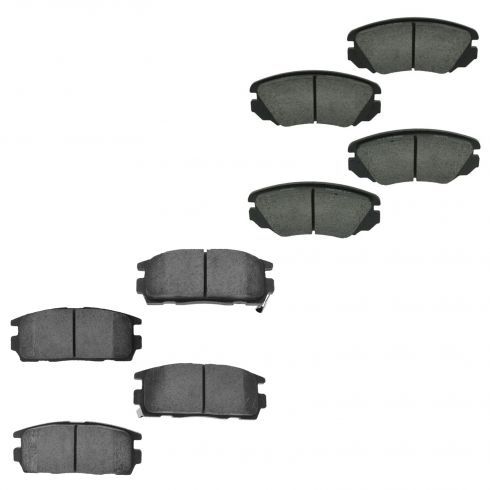 10-14 Equinox; 10-14 Terrain Front & Rear Ceramic Brake Pad Set
