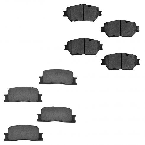 02-06 Toyota Camry VIN J Front & Rear Ceramic Brake Pad Set