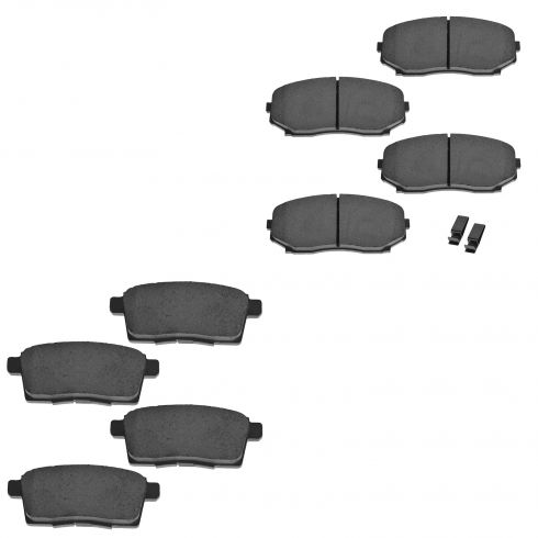 07-10 Edge, MKX; 07-12 CX7; 07-13 CX9 Front & Rear Ceramic Disc Brake Pads Kit (Set of 4)