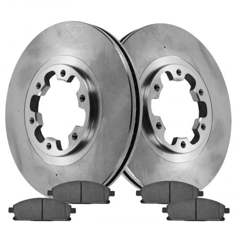 98-03 Infiniti QX4; 99 (from 12/98)-04 Pathfinder Front Disc Brake Rotor Pair & Ceramic Pads