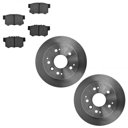 04-08 Acura TL; 03-11 Element Rear Ceramic Brake Pad & Rotor Set