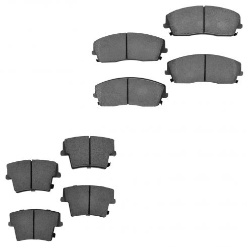 05-13 300; 09-13 Challenger; 06-10 Charger; 05-08 Magnum Front & Rear Ceramic Pad Set