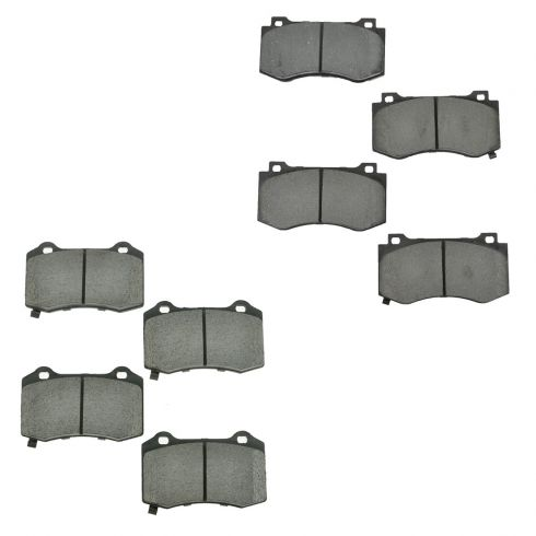 05-13 Chrysler; 05-13 Dodge Multifit SRT8 Front & Rear Ceramic Disc Brake Pads