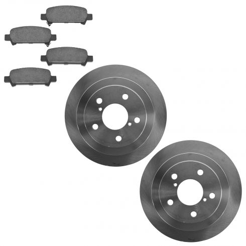 98-03 Forester; 00-03 Impreza Rear Semi Metallic Brake Pad & Rotor Set