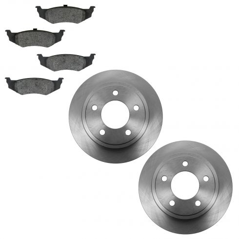 95-04 Chrysler FWD; 93-04 Dodge; 95-97 Eagle Rear Disc Brake Rotors & Semi Metallic Pad Kit