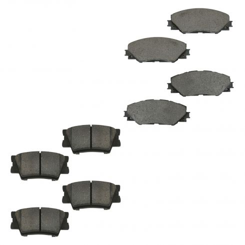 09-10 Vibe; 09-13 Matrix; 06-12 Rav4 Front & Rear Ceramic Disc Brake Pads