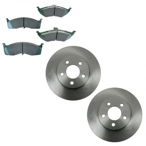 95-99 Neon 5 Lug Front Ceramic Brake Pad & Rotor Set
