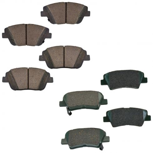 11-13 Sonata; 13 Optima Brake Pads Ceramic Front & Rear Set