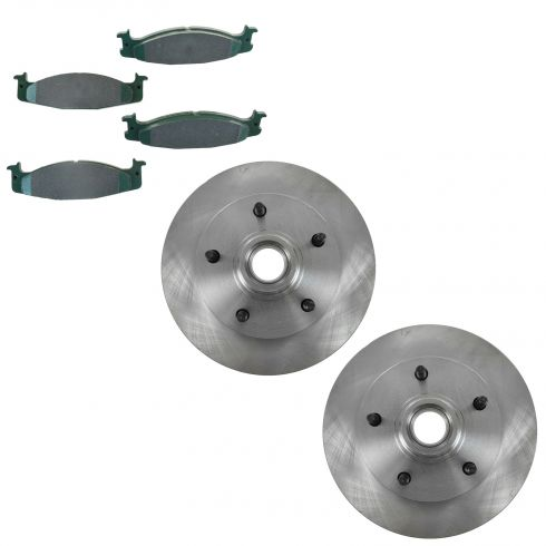 94-06 F150; 94-99 E150 Front Posi Ceramic Pad & Brake Rotor Set