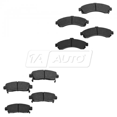 02-05 Buick Chevy GMC Mid Size SUV Front & Rear Premium Posi Ceramic Disc Brake Pads