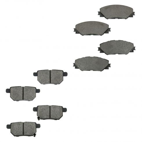 09-10 Vibe; 11-13 TC; 10-13 Matrix Ceramic Front & Rear Brake Pad Set