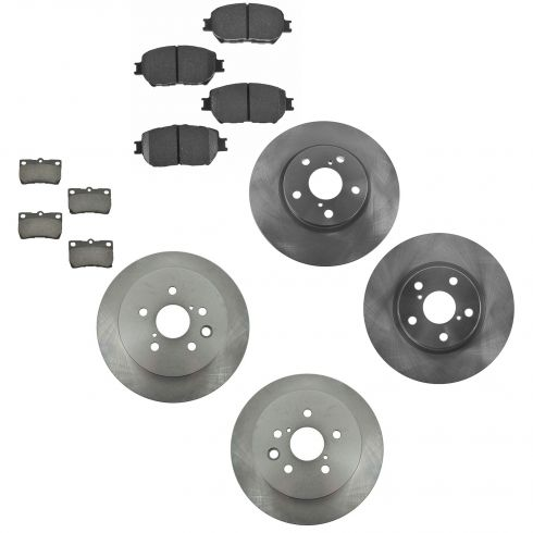 10-13  Lexus IS250 Front & Rear Brake Rotor & Ceramic Pad Kit