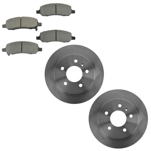 06-11 Lucerne; 06-10 DTS Rear Brake Rotor & Metallic Pad Kit