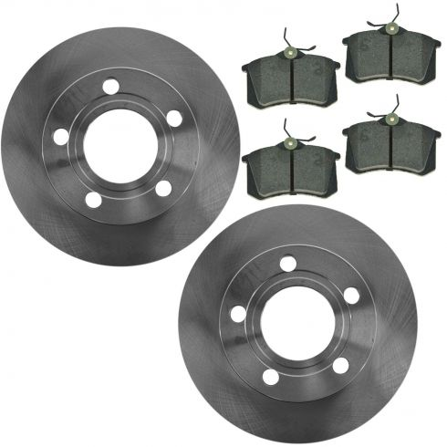 00-04 Audi A6 Quattro Rear Brake Rotor & Metallic Pad Kit