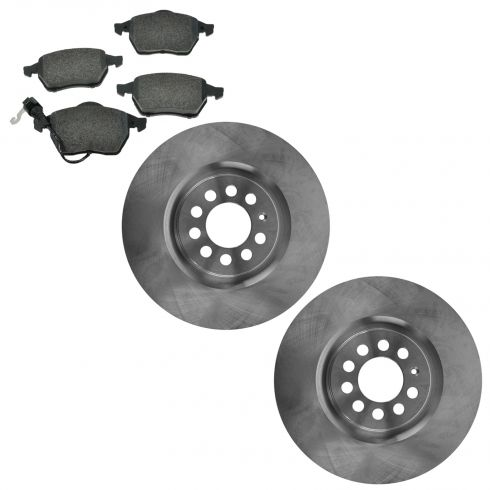 00-06 TT; 03-05 Jetta; 03 Golf Front Brake Rotor & Metallic Pad Kit