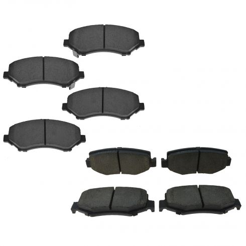 07-11 Dodge Nitro; 08-12 Jeep Liberty; 07-14 Wrangler Front & Rear Ceramic Disc Brake Pads