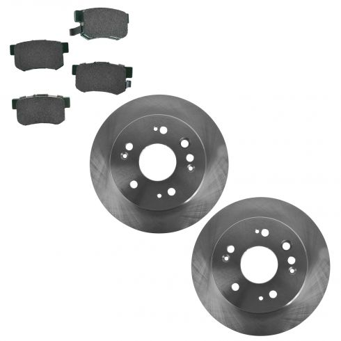 02-04 Honda CR-V Rear Disc Brake Rotor & Premium Posi Ceramic Pads