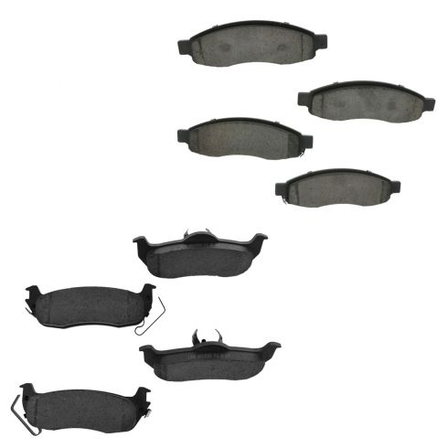 04-05 QX56; 04-05 Titan Front & Rear Ceramic Disc Brake Pads