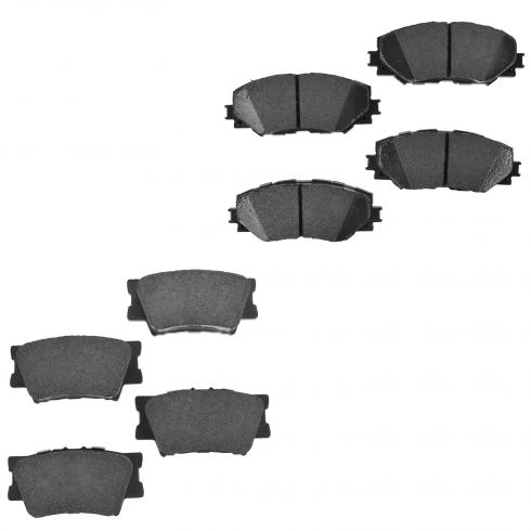 10-12 HS250h; 06-13 Rav4 w/o 3rd Row Seating Front & Rear Premium Posi Ceramic Disc Brake Pads