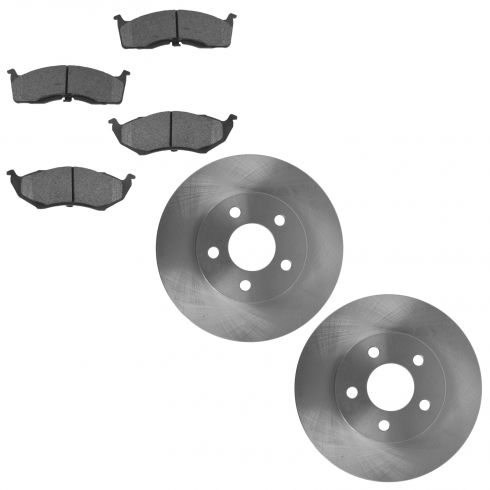 00-05 Dodge Neon Front Brake Rotor & Ceramic Pad Set