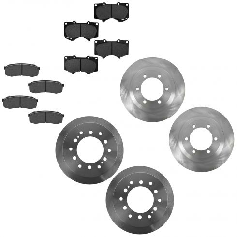 03-09 GX470; 03-09 4Runner Front & Rear Metallic Pad & Rotor Set