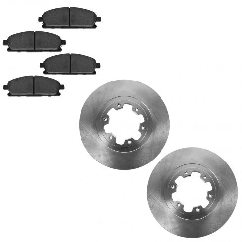 98-03 Infiniti QX4; 99 (from 12/98)-04 Pathfinder Front Disc Brake Rotor & Semi Metallic Pads