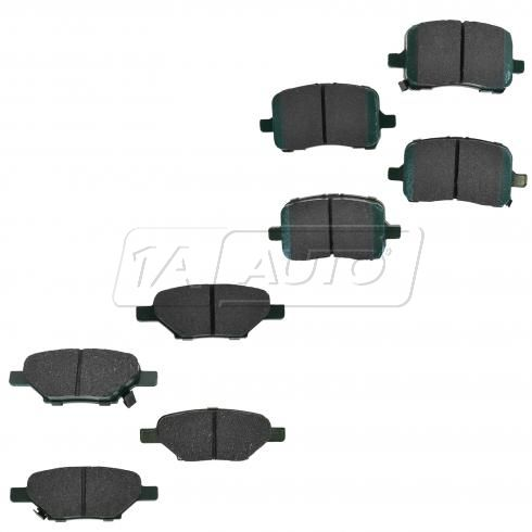 04-10 Chevy Pontiac Saturn Multifit Front & Rear Premium Posi Ceramic Disc Brake Pads