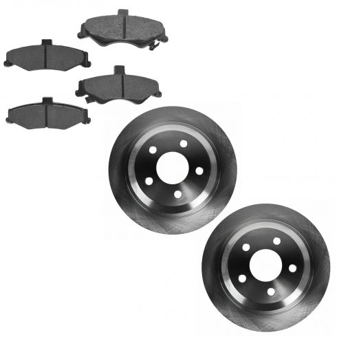 98-02 Camaro Firebird Rear Disc Brake Rotors with Premium Posi Metallic Pads