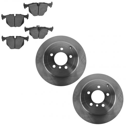 03-05 Range Rover Rear Brake Rotor & Ceramic Brake Pad Kit