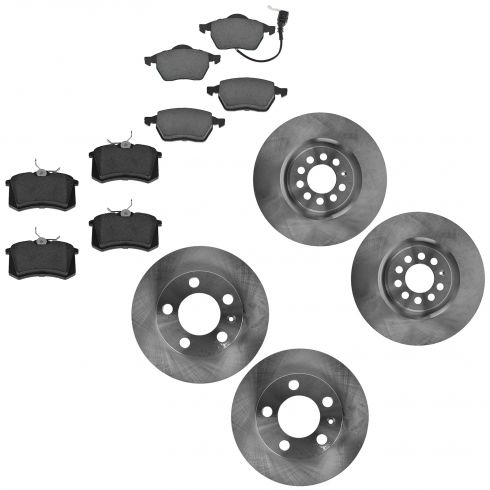 00-06 TT; 00-03 Golf; 04-05 Jetta Front & Rear Brake Rotor & Ceramic Pad Kit
