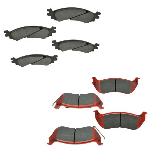 06-10 Explorer; 07-10 Spprt Trac Front & Rear Ceramic Bake Pad Set